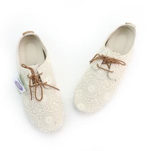 Sanuk Bianca Crochet White Oatmeal Shoes NEW!